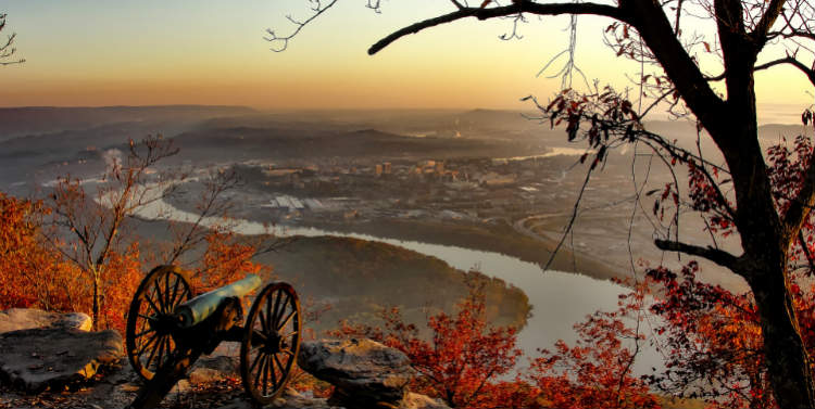 View Of Chattanooga Tennessee